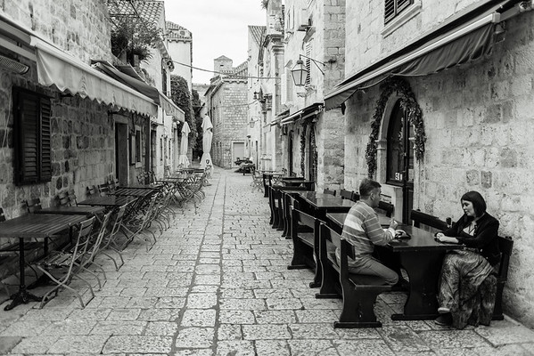 Dubrovnik Couple Talking