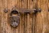 Lock on a door in San Miquel de Allende Mexico