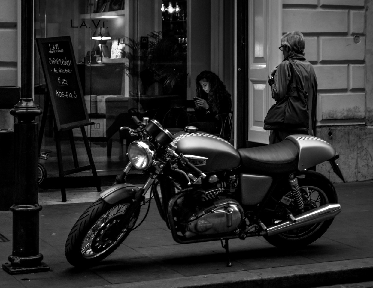Rome Cafe Motorcycle