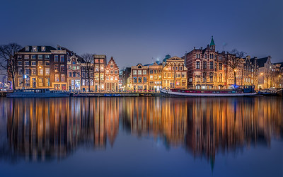 Amsterdam canalhouses