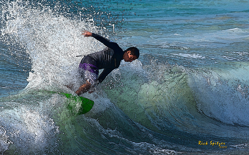 Surfer on the Pacific
