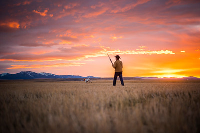 Sunset on the prairie.