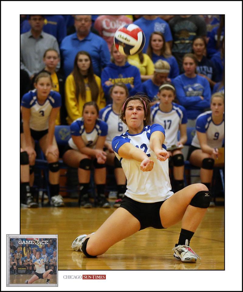 Sandburg's Katie Makina makes a tough defensive play against Marist. | Allen Cunningham/For Sun-Times Media