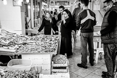 Kusadasi Fish Market Shoppers