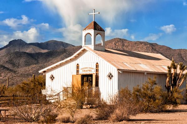 Chapel at Old Tucson Studios.