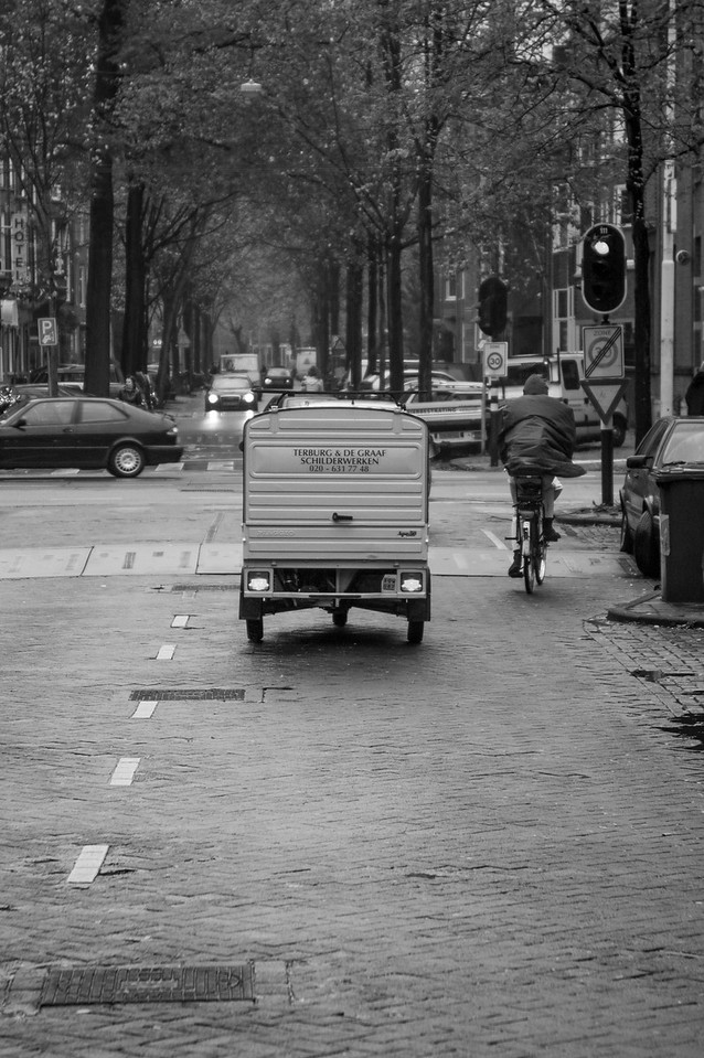 Amsterdam Cart and Cyclist