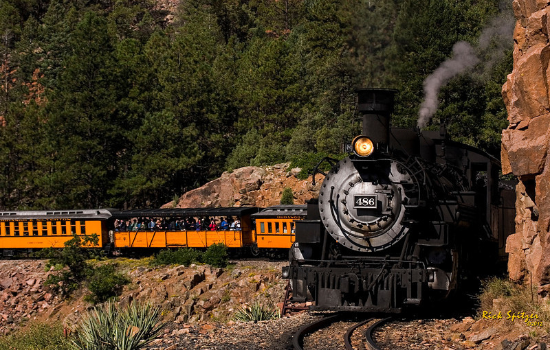 Durango and Silverton Narrow Gauge Railroad Enters the Highline