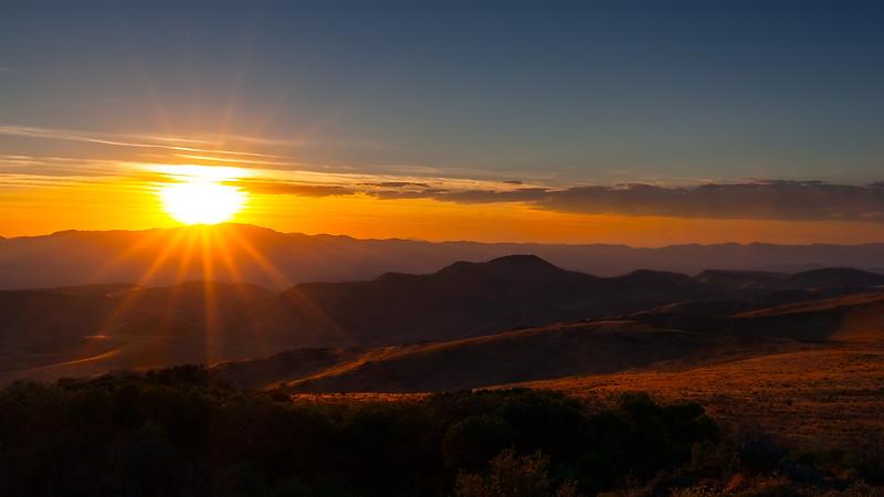 Sunstar Sunset, Trout Creek Mountains