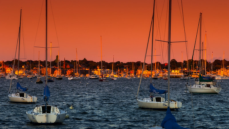 Sunset, Newport bay, R.I.