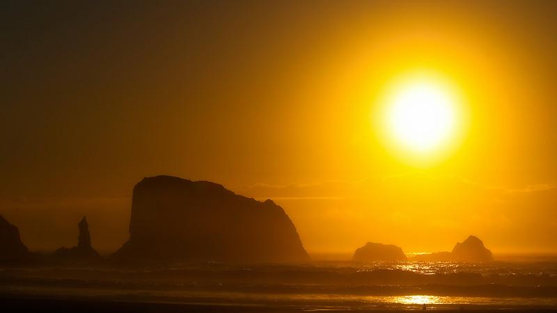 Into the sun. Oregon Coast