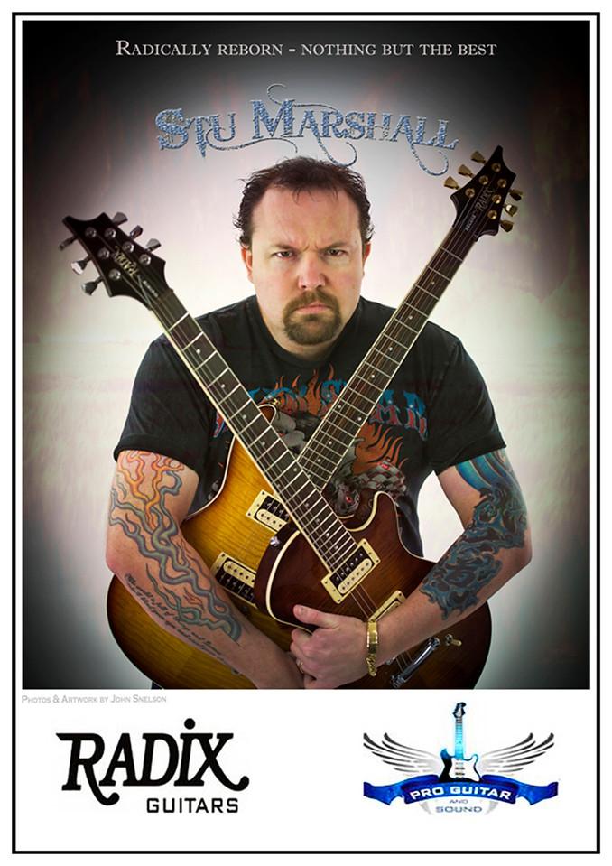 Stu Marshall with Radix Guitars