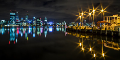 Perth at Night from South Perth