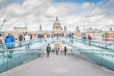 Millennium Bridge to St Paul's in London