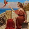 A signal, by John William Godward