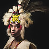 Lambong in Orang Ulu costume