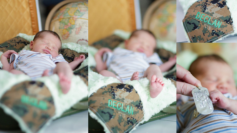 Army themed baby photo session