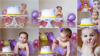 cake smash session girl copyrighted by laruecherie photography