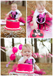 Cake smash session copyrighted by laruecherie photography