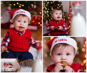 holiday theme session boy copyrighted by laruecherie photography