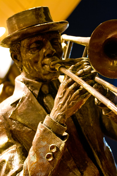 New Orleans Jazz! Street Jazz! More than a century old New Orleans Tradition, the street performing musicians of the Big Easy continue to bring a unique sound and view to the 'Quarter.' Performed by the curious and the not so curious, talent and poverty here go hand-in-hand. Alive or cast in bronze - Musicians are a key ingredient of celebration.. and tragedy and virtually every human experience in between.  Here they are the Great American South at it's best, and worst.   From the streets of the city, the stern of the Natchez, to plantations in the western parishes, the sound of Jazz rules... The images speak for themselves..