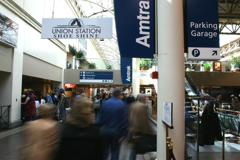 Blur of the morning commute - Union Station - Washington, DC