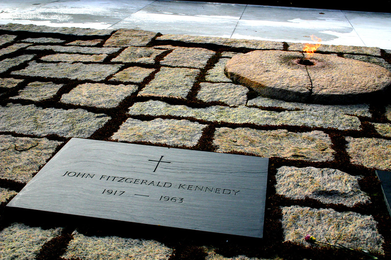 The Eternal Flame - JFK's Burial Place - Arlington National Cemetary, Arlington, Virginia