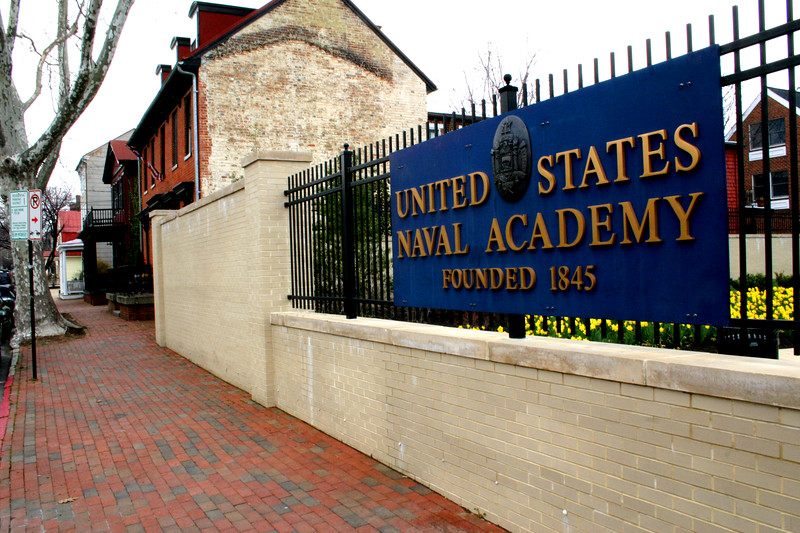 Annapolis - Home to the United State Naval Academy - founded in 1845<br /> Street Scene - Annapolis, Maryland