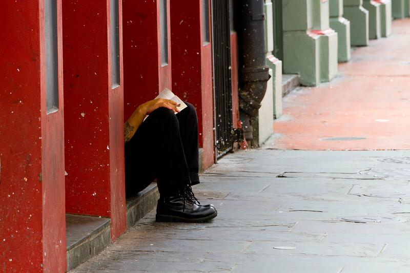 'Lunch Break...'  (unframed)<br /> <br /> Bourbon Street - Just everyday life in the 'Quarter..'