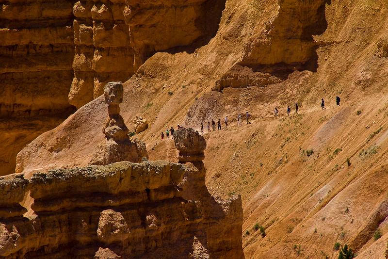 Down the Navaho Trail.. Bryce Canyon, Utah.