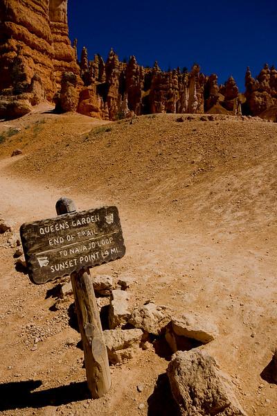 Queens Garden Trail.. Bryce Canyon, Utah.