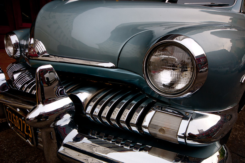 A few photo-worthy images of the Amazing Automobile, New Orleans style..   and parked right on the streets! '51 Merc.