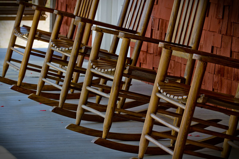 Rocker Lineup at the Whitman House - Cedar Key Museum..