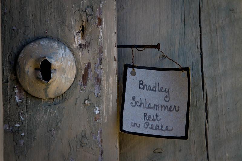RIP Bradley...  A fitting epitaph.  Along 2nd Street, Cedar Key