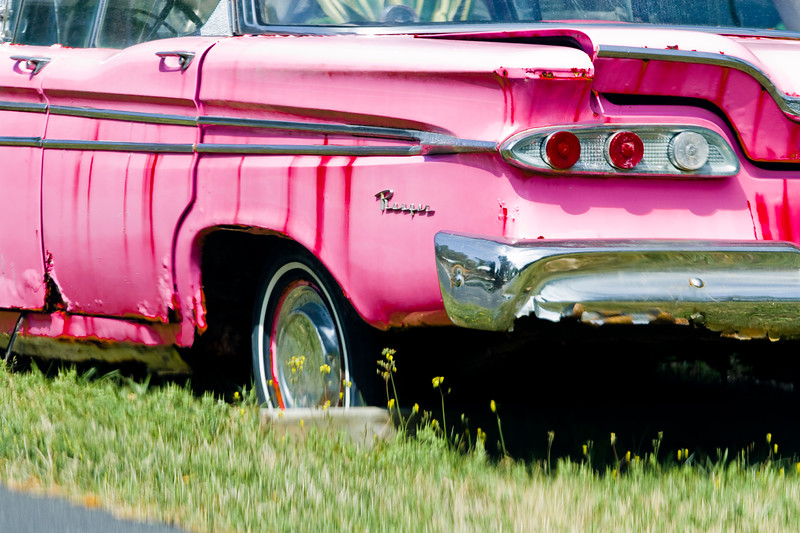 """CONTRI DATE:  April 9, 2011 - Pink as an Edsel..  Pushed to the street and for sale, this is what remains.  Sad.<br /> Cedar Key, Florida.<br /> Visit our Cedar Key work at: <a href=""""http://www.louisannimage.com/Travel/Our-America/Cedar-Key-Old-Floridas-Big/"""">http://www.louisannimage.com/Travel/Our-America/Cedar-Key-Old-Floridas-Big/</a><br /> Thanks!    HB"""