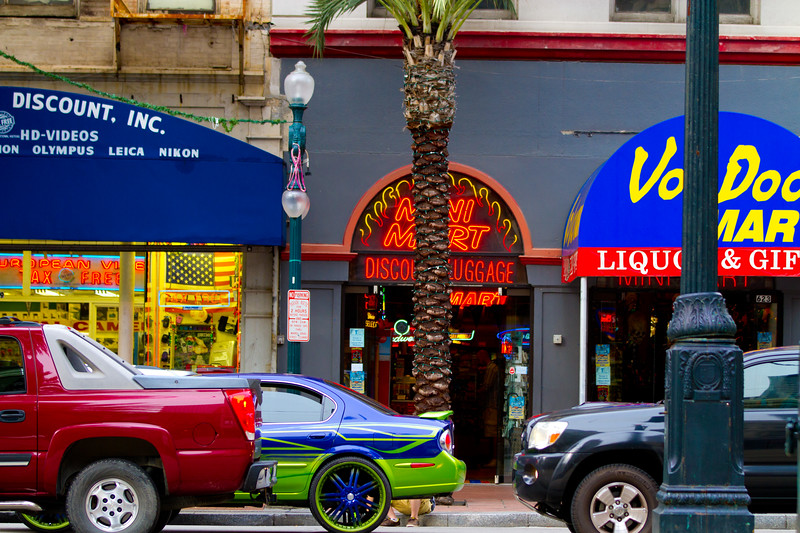 What you see on any given day (or evening) stroll through the French Quarter, or along Canal Street.