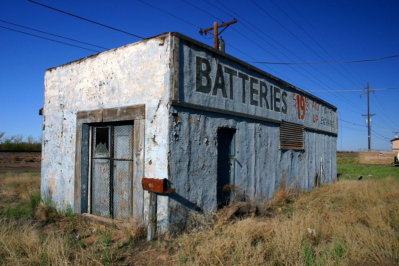 """Batteries $19.95 And Up""  Route 66 - Holbrook, Arizona"