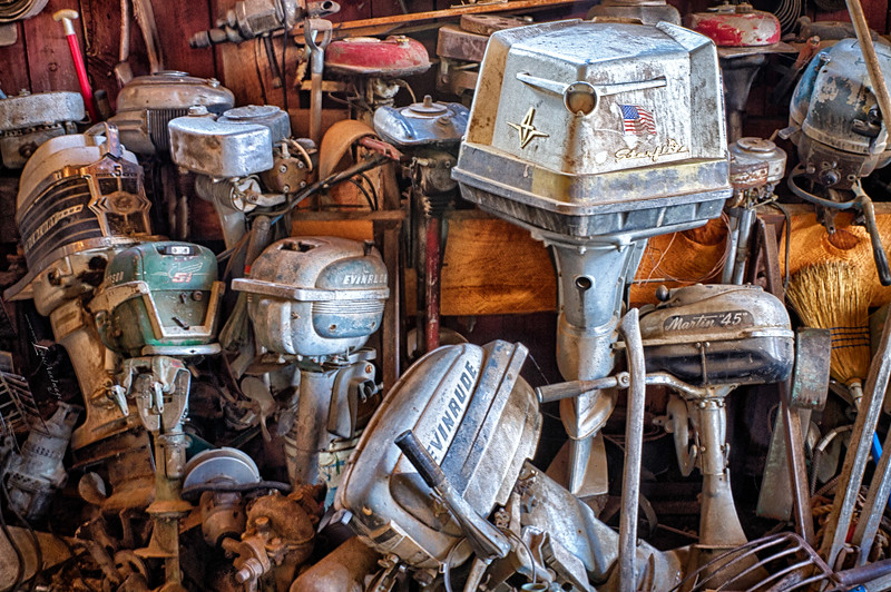 'Outcast Outboards...' King Gold Mine & Ghost Town, Jerome, Arizona. Three Exposure HDR.