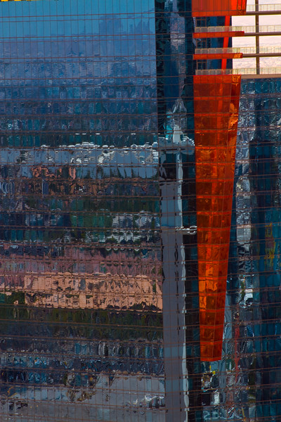 Architectural reflections of Vegas - as seen from the top of the Eifel Tower, Las Vegas, Nevada