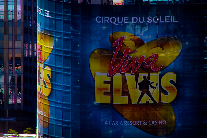 "Architectural reflections of Vegas - ""Viva Elvis"" - as seen from the top of the Eifel Tower, Las Vegas, Nevada"