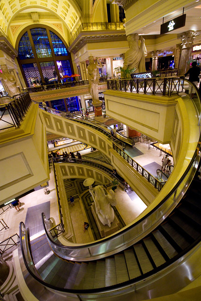 Circular Escalator - Caesar's Palace, Las Vegas, Nevada