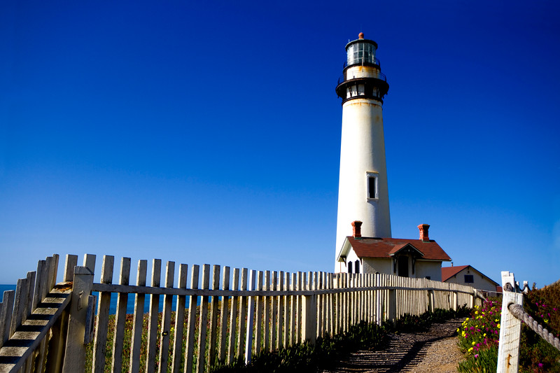"""5-1-2010 """"Pigeon Point Light"""" - Pacific Coast Highway - Fifty miles to the south of San Francisco.  Pigeon Point is one of the tallest lighthouses in America. Perched atop a cliff on the central California coast, the 115-foot Lighthouse has guided mariners since 1872."""