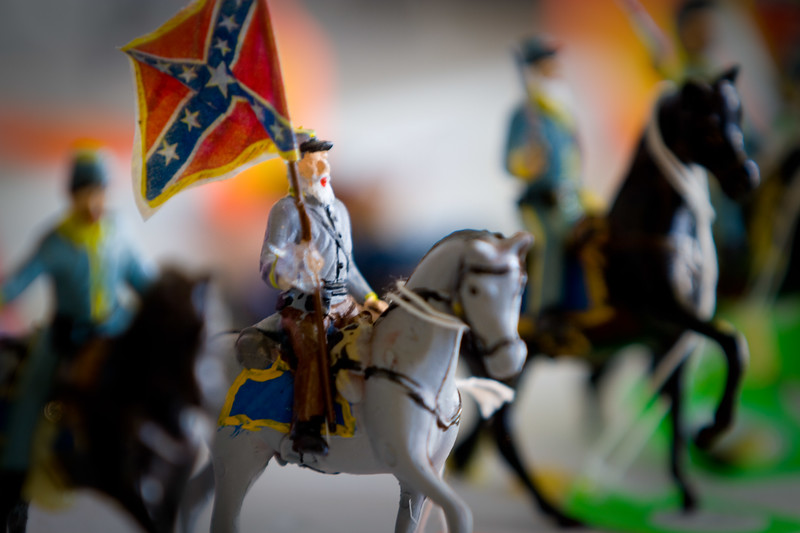 Civil War Miniatures hand crafted by the owner of Four Seasons Cafe - Monticello, Georgia