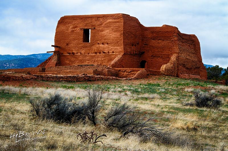 'The Pueblo Grounds..' Pecos National Historical Park, Pecos, NM - The remains of Mission Nuestra Señora de los Ángeles de Porciúncula de los Pecos, a Spanish mission near the pueblo built in the early 17th century.