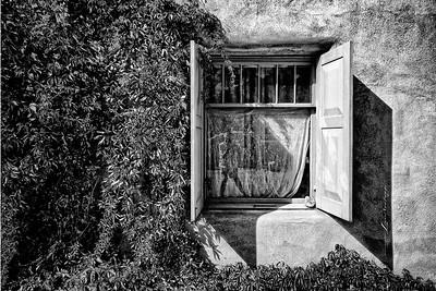 'The Window and I...'  self Portrait. Ranchos de Taos, New Mexico