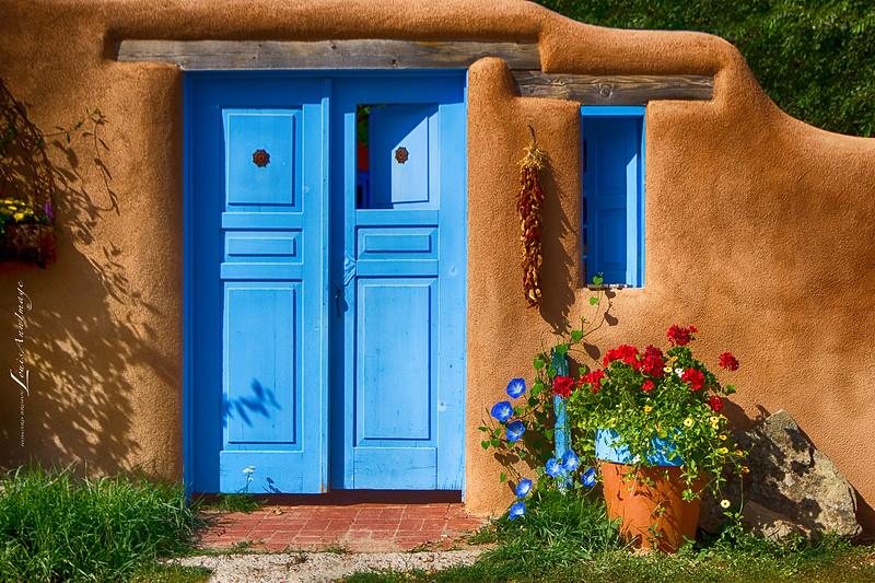 Typical Southwestern Portal - Ranchos de Taos, New Mexico