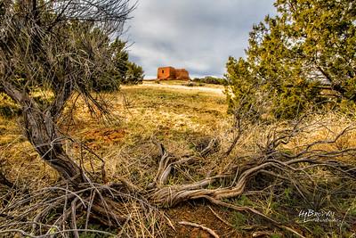 'The Landscape..' 'The Pueblo Grounds..' Pecos National Historical Park, Pecos, NM - The remains of Mission Nuestra Señora de los Ángeles de Porciúncula de los Pecos, a Spanish mission near the pueblo built in the early 17th century.
