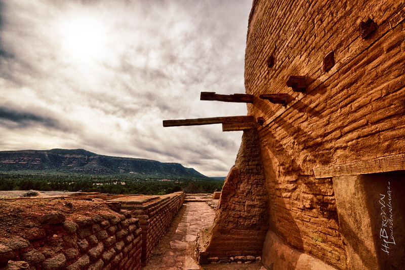 """View West..' Pecos National Historical Park, Pecos, NM - The remains of Mission Nuestra Señora de los Ángeles de Porciúncula de los Pecos, a Spanish mission near the pueblo built in the early 17th century."