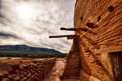 """""""View West..' Pecos National Historical Park, Pecos, NM - The remains of Mission Nuestra Señora de los Ángeles de Porciúncula de los Pecos, a Spanish mission near the pueblo built in the early 17th century."""