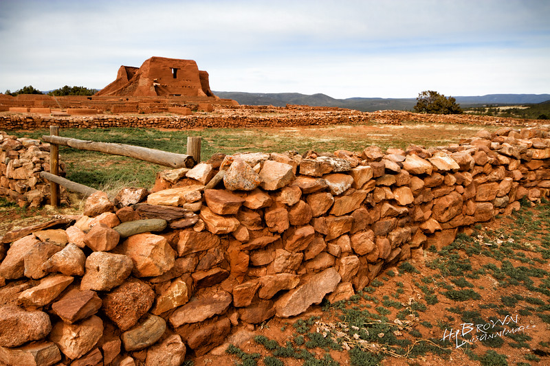 'The Pueblo Grounds..' Pecos National Historical Park, Pecos, NM - The remains of Mission Nuestra Señora de los Ángeles de Porciúncula de los Pecos, a Spanish mission near the pueblo built in the early 17th century.