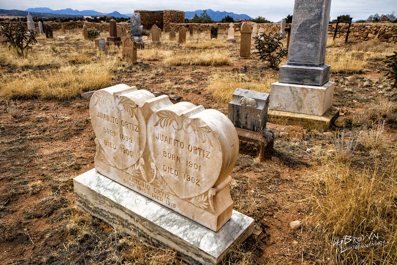 'Unimaginable Loss...' Really read this headstone... What a life struggle for the Ortiz Parents... Sad.  <br /> Galisteo Pueblo - Cemetary, Hwy 41, New Mexico - South of Santa Fe and Pecos...